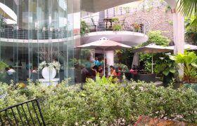 Thư giãn với những nhà hàng sân vườn đẹp và lãng mạn bên cạnh dù che nắng